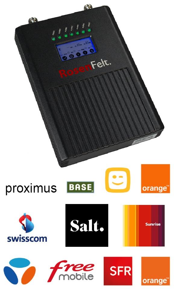 amplificateur pentabande compatible tous opérateurs voix + 3G + 4G