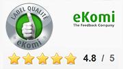 Accrédité par le sceau qualité eKomi Argent !